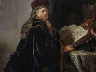 Učenec ve studovně, jediné Rembrandtovo dílo, které Česko vlastní.
