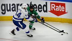 Tampa porazila v NHL Dallas a v sérii vede 2:1. K triumfu přispěli Palát i Rutta