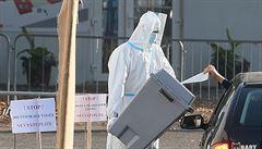 Volební místa pro hlasování lidí v karanténě se uzavřela, zájem nebyl velký