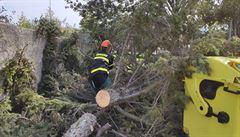Bez proudu byly kvůli silnému větru po ránu tisíce domácností, hlavně na Moravě