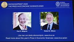 Nobelovu cenu za ekonomii získali Američané Milgrom a Wilson. Objasnili fungování aukcí a chování kupujících