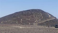 Překvapivý objev na pláni Nazca. Mezi obrazci je obří, 2000 let stará kočka