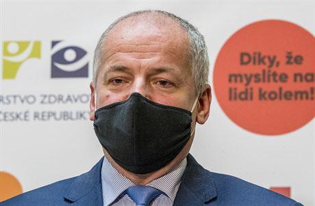 Ministr zdravotnictví Roman Prymula oznámil na tiskové konferenci, že...
