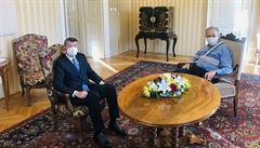 Premiér Babiš rozebíral s prezidentem Milošem Zemanem především prodloužení nouzového stavu