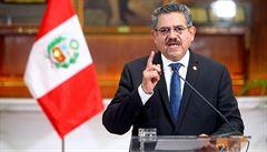 Nový peruánský prezident Merino po masových protestech rezignoval. Nestrávil ve funkci ani celý týden