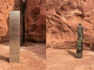Neznámý monolit v Utahu.
