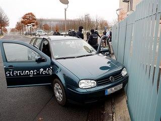 Do plotu sídla německé kancléřky Angely Merkelové v Berlíně úmyslně narazilo...