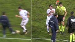 VIDEO: Neuvěřitelný zkrat. Trenér Catanie vstoupil na hřiště a zastavil akci soupeře