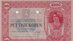 Nejdražší české papírové platidlo prodané v domácí aukci: státovka z roku 1919 se vydražila za 12 milionů