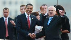 Obamovi jsou v Praze, na večeři ve městě nebyli