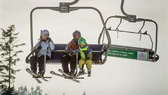 Silný vítr opět zastavil horní úsek kabinové lanovky na Sněžku, vál rychlostí 70 kilometrů v hodině