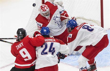 Deset gólů od Kanady. Česká osmnáctka nestačila na favorita a končí debaklem ve čtvrtfinále