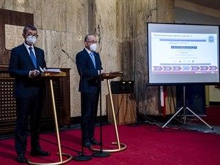 Andrej Babiš a ministr zdravotnictví Jan Blatný.