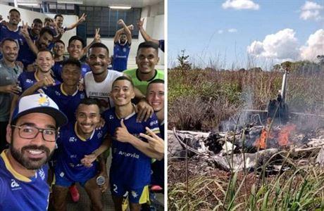 Neštěstí v Brazílii. Čtyři fotbalisté zahynuli při havárii letadla, v něm byli kvůli covidu