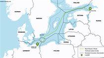Nortstream 2 pipeline route.