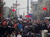 Po celém Rusku se masivně protestovalo. Policie zatkla více než 3000 lidí, mezi nimi i ženu Navalného