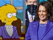 Inspirovala se Harrisová Lízou ze Simpsonů či tvůrci opět předpověděli budoucnost? Zřejmě ani jedno