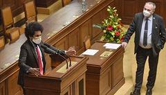 'Sobecký idiot.' Poslanec Volný vystoupil ve sněmovně bez roušky, vysloužil si kritiku od Feriho