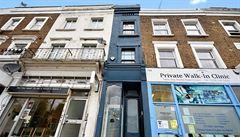 Nejužší dům v Londýně je na prodej. Cena je však astronomických 28 milionů korun