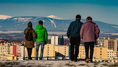 Lidé z Hradce Králové viděli zasněžené Krkonoše. Prohlédněte si unikátní snímky