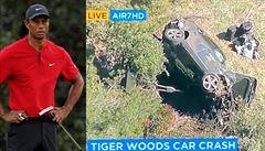Slavný golfista v trablích. Woodse museli po těžké autonehodě vystříhávat z vozu, má vážně poraněné nohy