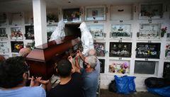 V Sao Paulu koupili obří reflektory, aby mohli pohřbívat i v noci. Na pohřby se stojí hodinové fronty
