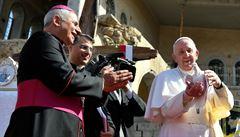 Papež navštívil poničený Mosul. Pomodlil se za oběti války a odsoudil náboženský extremismus