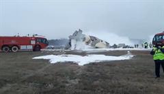 V Kazachstánu havarovalo letadlo pohraniční stráže, čtyři lidé zahynuli
