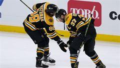 Krejčí dosáhl na 700 bodů v NHL, s Pastrňákem dotlačili Boston k výhře nad Buffalem
