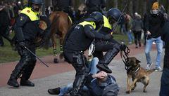 Nizozemská policie s pomocí vodního děla a obušků rozehnala protesty odpůrců lockdownu. Sešli se jich 2 tisíce