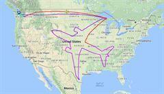 Začalo to obří želvou v Atlantiku, slavný je i boeing přes celé Státy. Kresba penisu u Suezu není ojedinělá