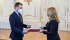 Čaputová jmenuje novou vládu bez jednoho ministra, Heger v čele kabinetu nahradí Matoviče