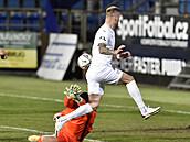 Fotbalisté Slovácka porazili doma Liberec 1:0 a v lize dál drží třetí místo