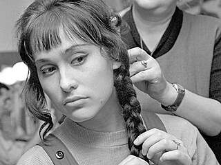 Rok 1961. Marie Málková v divadle Disk.