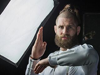 Jiří Procházka na tiskovce po příletu z UFC.