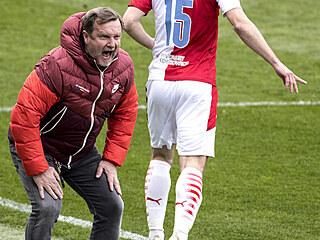 Semifinále MOL Cupu Sparta - Slavia: Pavel Vrba a Ondřej Kúdela.