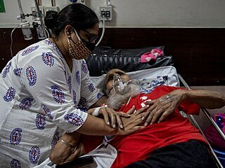 Nemocnice v Indii.