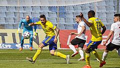 Fotbalisté Opavy jsou po remíze 1:1 ve Zlíně prvním sestupujícím z fotbalové ligy
