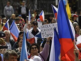Další ze série protestních akcí spolupořádaných Hnutím Manifest.cz a PSP-Pravá...