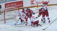 Čeští hokejisté zvládli generálku na MS, porazili Rusy 4:0 a vyhráli turnaj