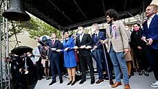 Koalice Spolu zahájila v Brně předvolební kampaň, Feri představil program pro mladé. Zaskočilo je krupobití