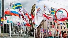 Diplomatický konflikt na pozadí hokeje. Po běloruské vlajce Riga vyměnila i tu ruskou