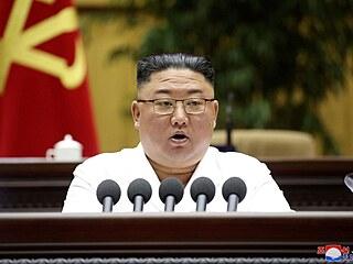 Archivní snímek vůdce KLDR Kim Čong-una z dubna 2021.