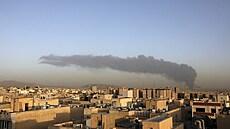 V teheránské rafinerii vypukl velký požár, nad městem se vznášel hustý dým