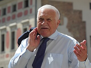 Bývalý prezident Václav Klaus na oslavě svých 80. narozenin.