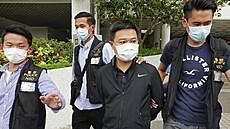 Další rána pro opozici. Policie v Hongkongu zatkla šéfredaktora deníku patřícího aktivistovi Laiovi