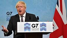 Napětí kvůli brexitu přerostlo na summitu G7 ve slovní přestřelku, Johnson argumentoval párky