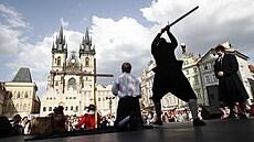 Na Staroměstském náměstí proběhla po 400 letech znovu poprava 27 českých pánů. Krev ale tentokrát netekla