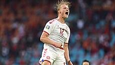 Fotbalisté Dánska porazili Wales 4:0. Ve čtvrtfinále mohou narazit na Česko