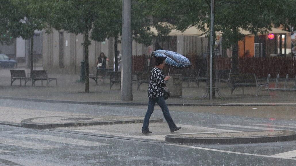V jihovýchodní polovině ČR bude v neděli vydatný pršet, na východě i bouřky